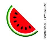 watermelon icon  fruit slice... | Shutterstock .eps vector #1194053020