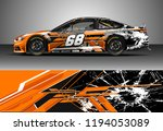 car wrap design vector. graphic ... | Shutterstock .eps vector #1194053089