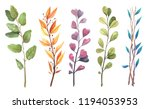 watercolor set  herbs  leaf.... | Shutterstock . vector #1194053953