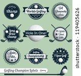 vector set  golfing champion... | Shutterstock .eps vector #119405626
