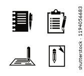 writing  edit  write. simple... | Shutterstock .eps vector #1194056683
