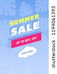summer sale design layout for... | Shutterstock . vector #1194061393