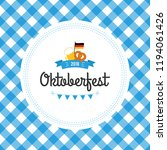 oktoberfest poster illustration ... | Shutterstock . vector #1194061426