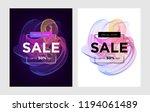 vibrant templates of web banner ... | Shutterstock . vector #1194061489