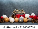 christmas decoration over dark... | Shutterstock . vector #1194069766