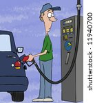 Pumping gas these days. Filling your tank, draining your bank account. - stock photo