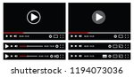video media plyer interface... | Shutterstock .eps vector #1194073036