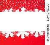 red festive winter greeting... | Shutterstock .eps vector #1194076120