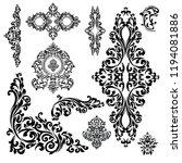 set of oriental vector damask... | Shutterstock .eps vector #1194081886