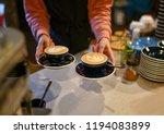 coffee house cappuccino latte... | Shutterstock . vector #1194083899