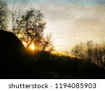 sunset in nature with sun... | Shutterstock . vector #1194085903
