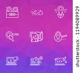 seo icons line style set with...   Shutterstock .eps vector #1194089929