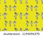 seamless pattern  mummy... | Shutterstock .eps vector #1194096370
