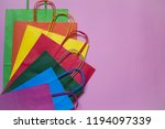 group of colorful shopping bags ... | Shutterstock . vector #1194097339