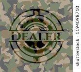 dealer camo emblem | Shutterstock .eps vector #1194098710