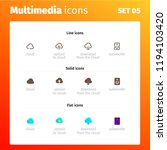 multimedia control icons   Shutterstock .eps vector #1194103420