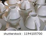 stack of beautiful white... | Shutterstock . vector #1194105700