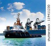 cargo sea port. sea cargo... | Shutterstock . vector #119411230