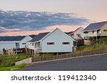 Residential Houses in Hokianga Bay, New Zealand - stock photo