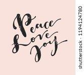 peace love joy. vintage hipster ... | Shutterstock .eps vector #1194124780