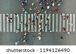 aerial. pedestrian crosswalk... | Shutterstock . vector #1194126490