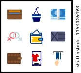 9 pay icon. vector illustration ... | Shutterstock .eps vector #1194126493