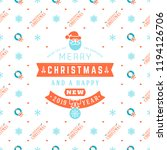 merry christmas and happy new... | Shutterstock .eps vector #1194126706