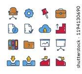 universal  business  finance... | Shutterstock .eps vector #1194130690