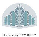 high buildings  residential... | Shutterstock .eps vector #1194130759