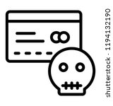 a credit card with the threat... | Shutterstock .eps vector #1194132190