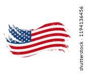 national flag of the united... | Shutterstock .eps vector #1194136456