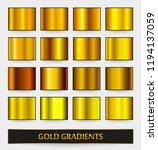 golden backgrounds.set of metal ... | Shutterstock .eps vector #1194137059