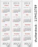 template of a calendar future... | Shutterstock .eps vector #119413789