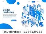 modern isometric design concept ... | Shutterstock .eps vector #1194139183