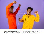 two joyful african man friends... | Shutterstock . vector #1194140143