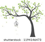 beautiful tree branch with... | Shutterstock . vector #1194146473