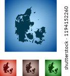 map of denmark | Shutterstock .eps vector #1194152260
