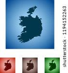 map of ireland | Shutterstock .eps vector #1194152263
