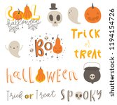 halloween lettering and... | Shutterstock .eps vector #1194154726
