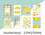 trendy and elegant autumn cards ... | Shutterstock .eps vector #1194155446