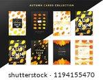 trendy and elegant autumn cards ... | Shutterstock .eps vector #1194155470