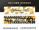 trendy and elegant autumn... | Shutterstock .eps vector #1194155473