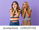 two pretty scared young girls... | Shutterstock . vector #1194157720