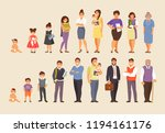 stages of aging men and women.... | Shutterstock .eps vector #1194161176