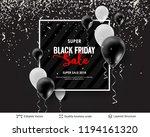 black friday sale backgrond.... | Shutterstock .eps vector #1194161320