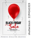 black friday sale backgrond.... | Shutterstock .eps vector #1194161323