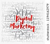 digital marketing word cloud... | Shutterstock .eps vector #1194162979