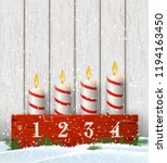 advent candle holder with four...   Shutterstock .eps vector #1194163450