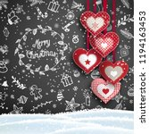 christmas background with white ... | Shutterstock .eps vector #1194163453