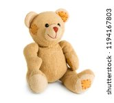 toy teddy bear isolated on... | Shutterstock . vector #1194167803